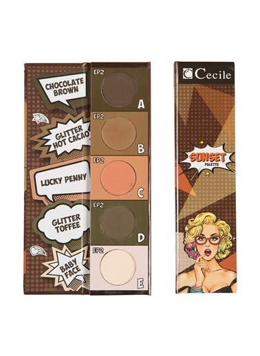 Sunset Eyeshadow Palette Ep 02-Cecile